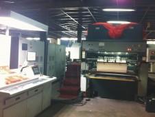 新机创新印刷机JX1180加装UV设备